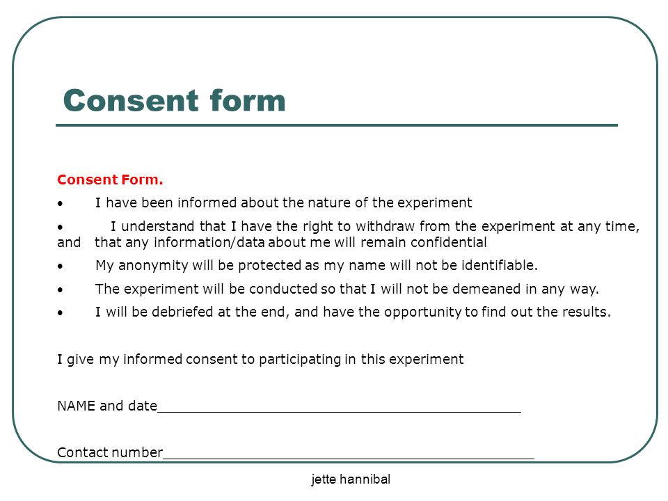Jette Hannibal Internal Assessment Experimental Research  Ppt Download