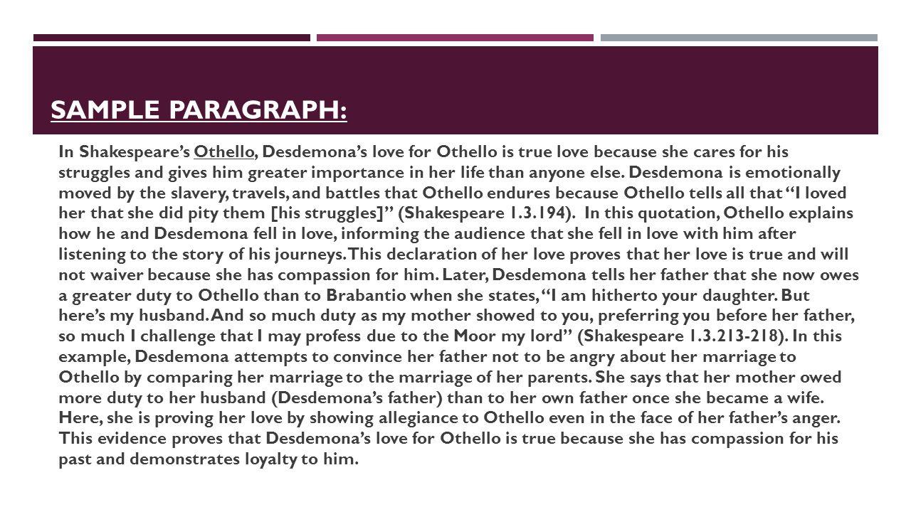Essay Of My School Shakespeares Othello Pitied Desdemona Essay  Visual Argument Essay also Citing In An Essay Shakespeares Othello Pitied Desdemona Essay College Paper Writing  Barack Obama Essay