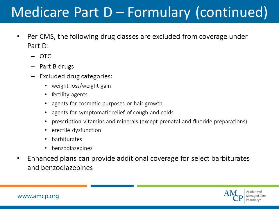 Medicare part d drug formulary