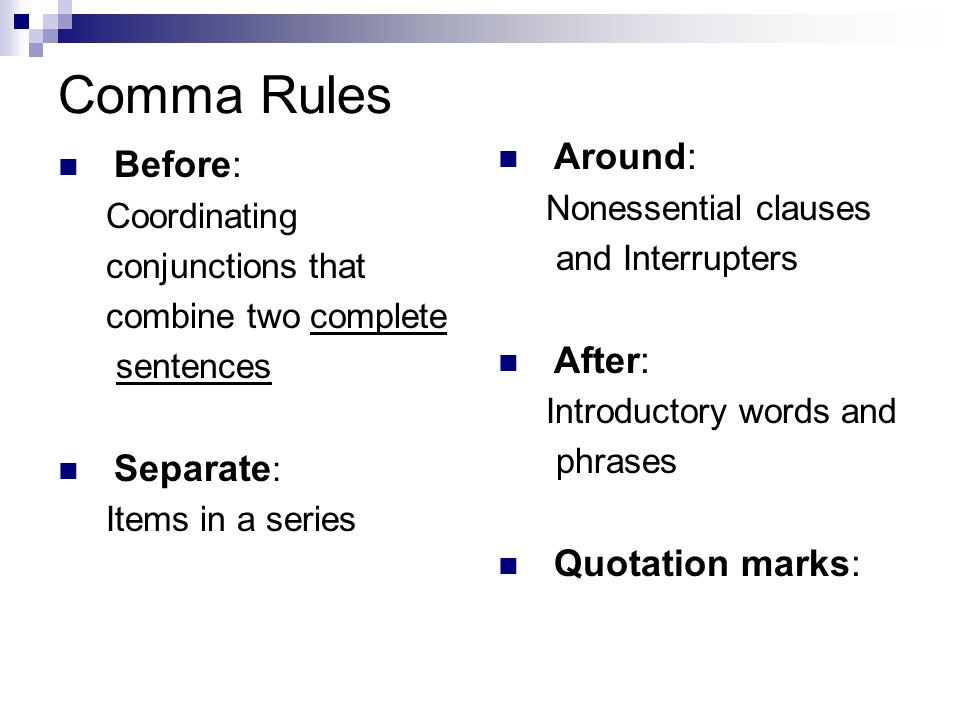 comma after quotation marks
