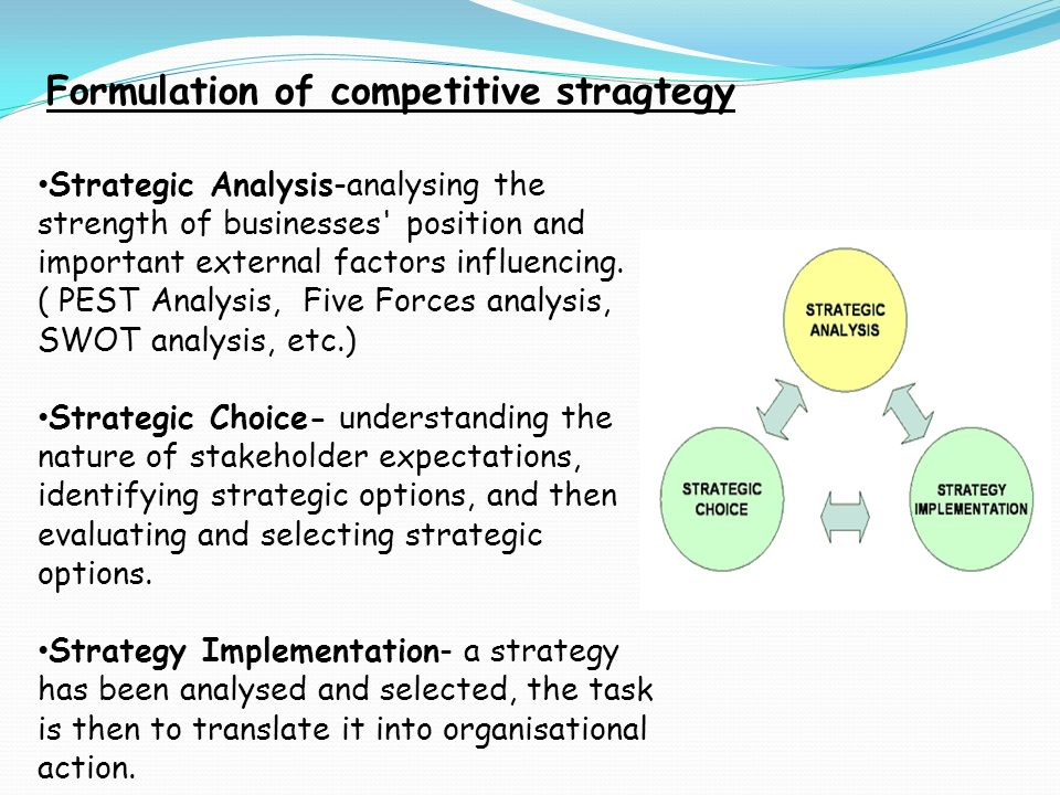 external factors that influence business strategy Environmental factors in strategic planning for any business to grow and prosper, managers of the business must be able to anticipate, recognise and deal with change in the internal and external environment.