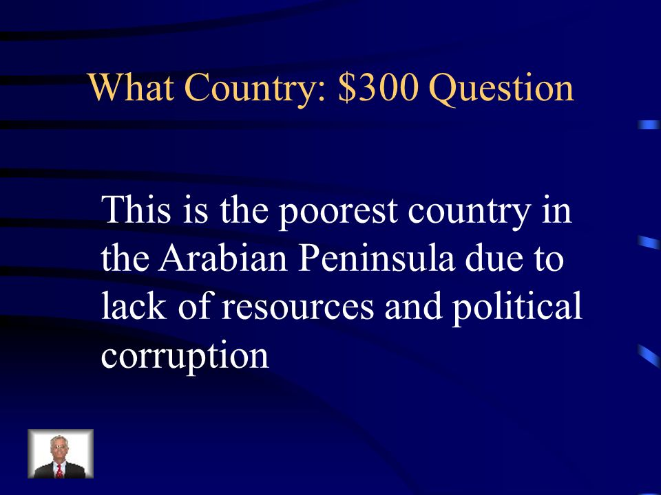 SW Central Asia Ch Jeopardy What Country Natural Features - The poorest country in central asia
