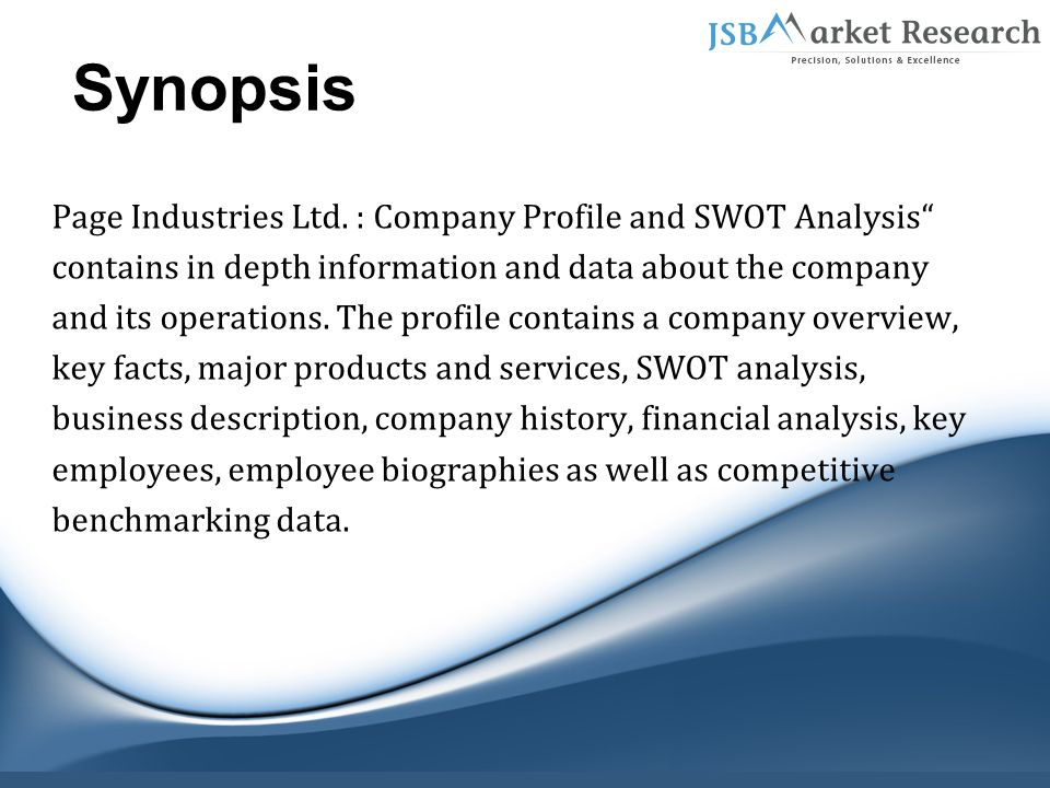 company description and swot analysis