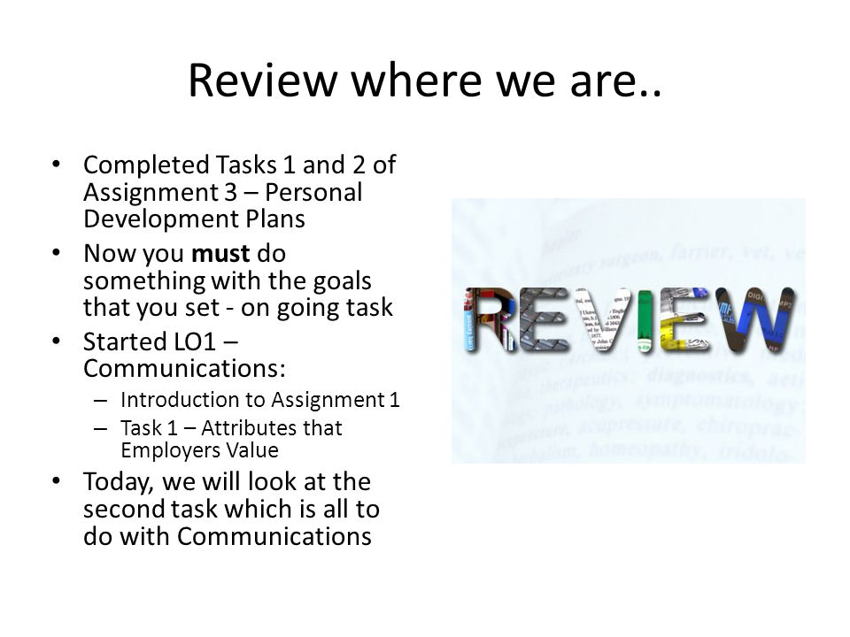 Personal development assignment