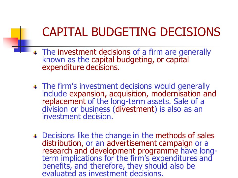 capital budgeting There are different methods or techniques adopted for capital budgeting learn about them in detail here also learn about its significance with the help of example.