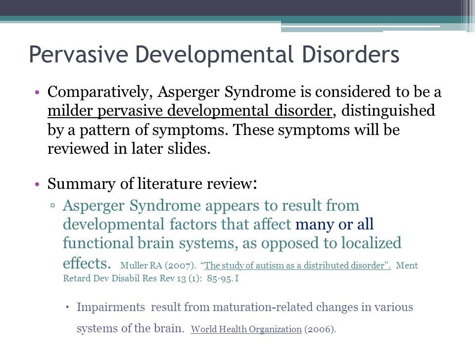 pervasive developmental disorders
