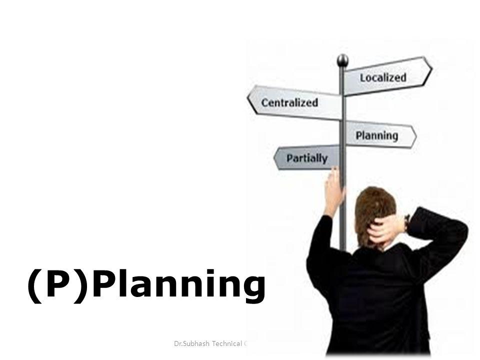 4 (P)Planning