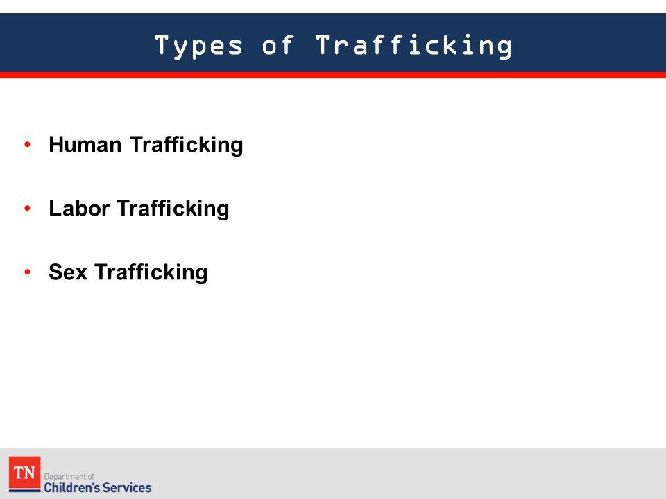Types of Trafficking Human Trafficking Labor Trafficking Sex Trafficking