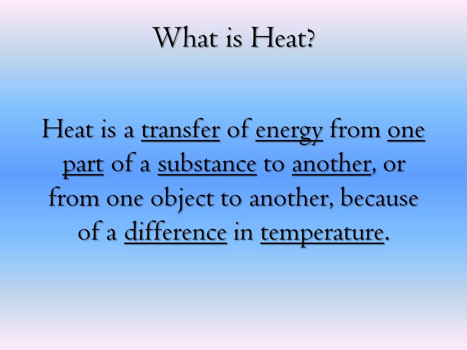 What is Heat.