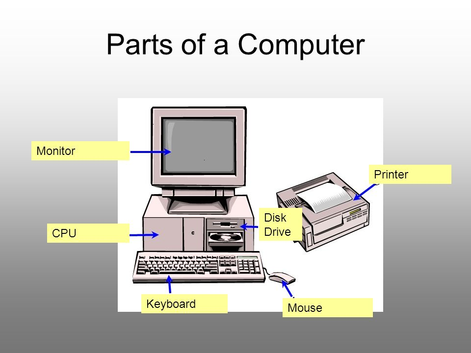 basic parts of a computer Basic parts of a computer and laptops english lesson start learning what the parts are called.