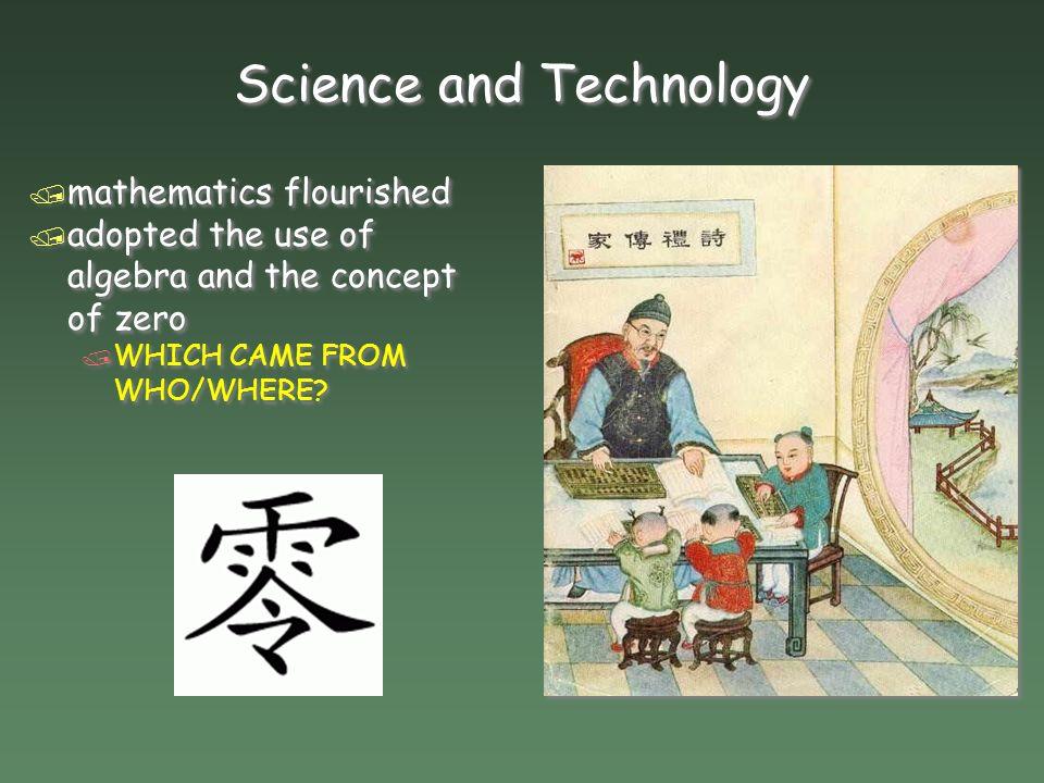 Science and Technology / mathematics flourished