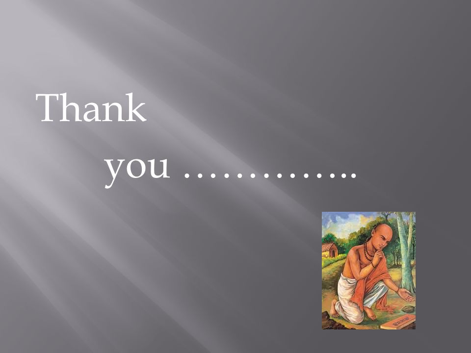 Thank you …………..