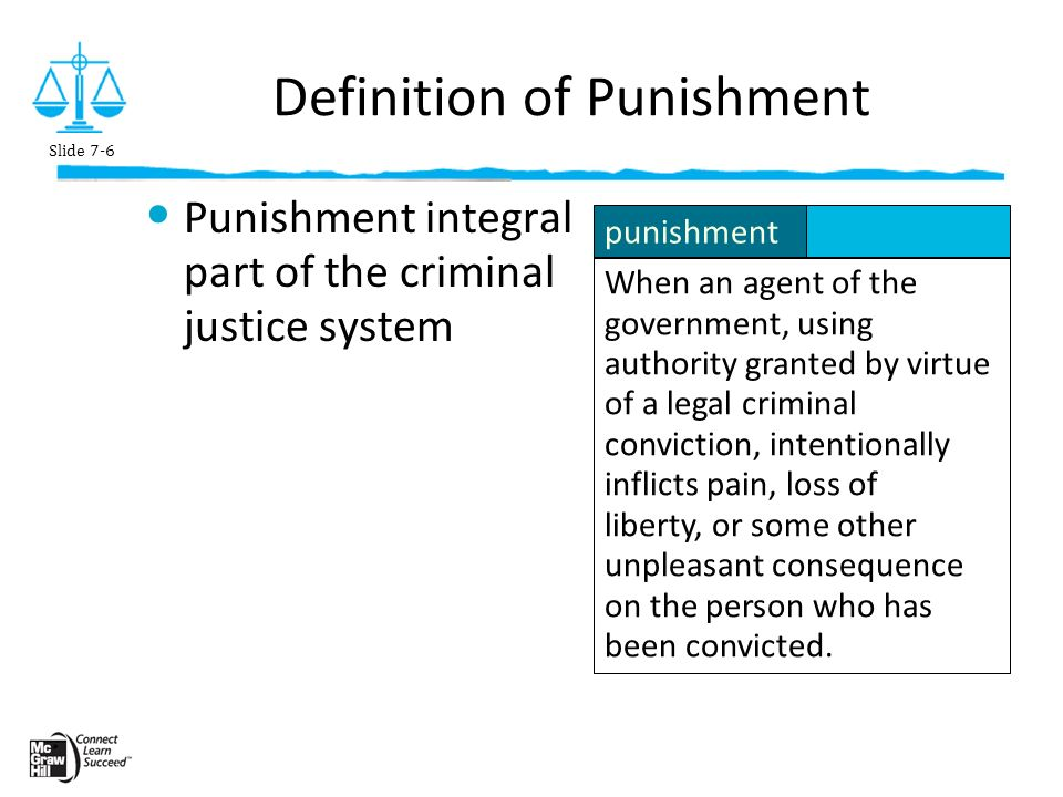what is the objective of punishment in the criminal justice system  objectives of punishment the objective of punishment in the criminal justice system it to enforce a particular penalty on a person who is in violation of the law such.