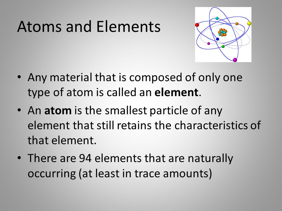 atoms and elements essay Study and discussion questions for atoms, molecules, and ions by phd students from the atoms of one element are different from the atoms of all other elements.