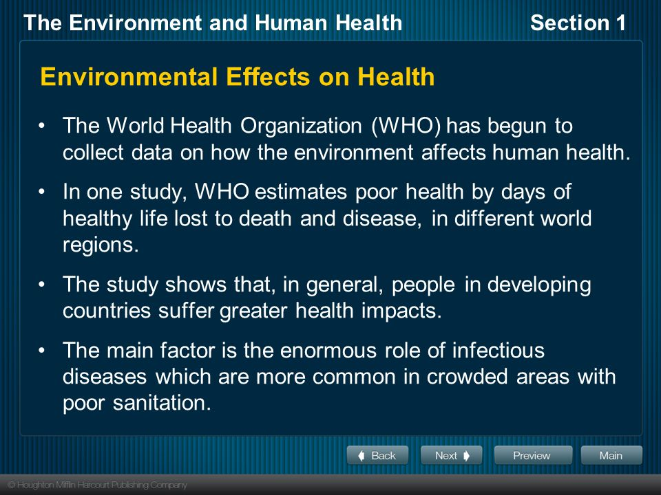 toolwire episode 4 infectious diseases and environmental effects on health Read chapter 4 infectious diseases presentation to iom committee on gulf war and health: infectious diseases gulf war and health: volume 5: infectious diseases.