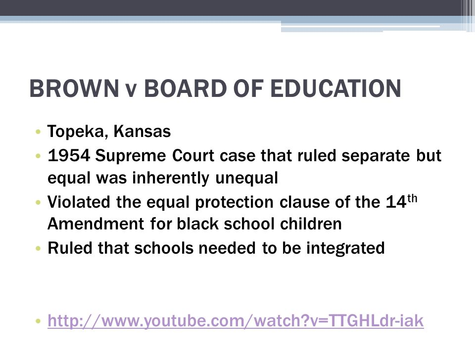why was the brown v topeka Brown v topeka board of education brown v topeka board of education – newspaper report linda brown was a third grade student in a black [].