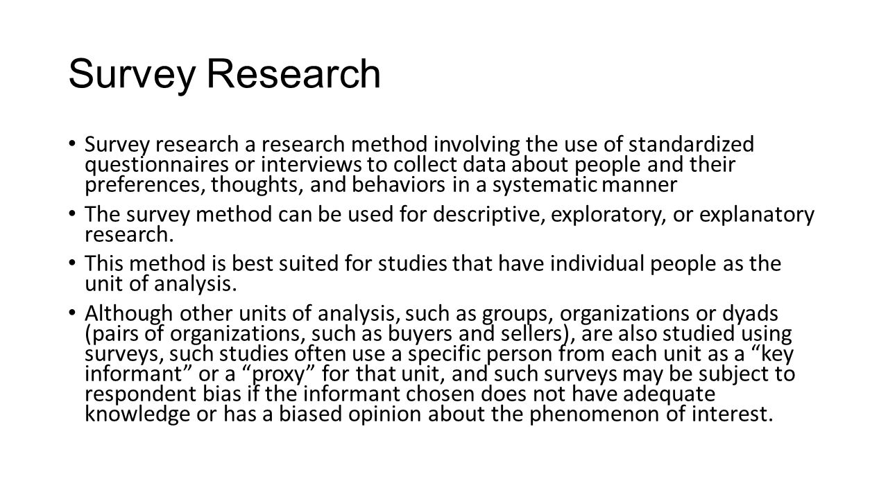 IR 502 RESEARCH METHODS DATA COLLECTION SURVEY RESEARCH INTERVIEWS ...