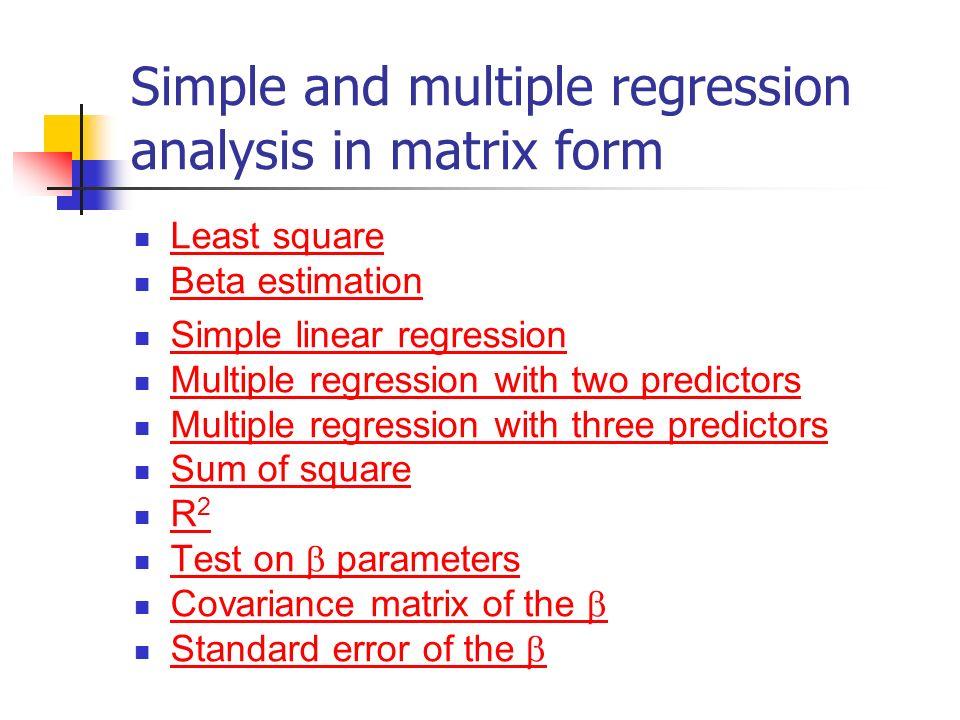 multiple regression r