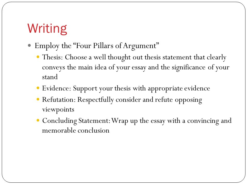 refutation essay format
