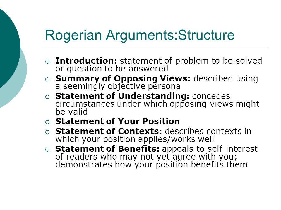 How To Write A Rogerian Essay