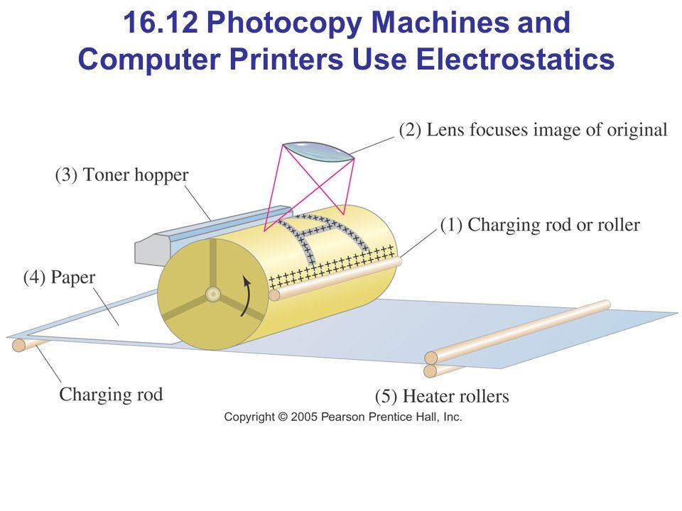 16.12 Photocopy Machines and Computer Printers Use Electrostatics
