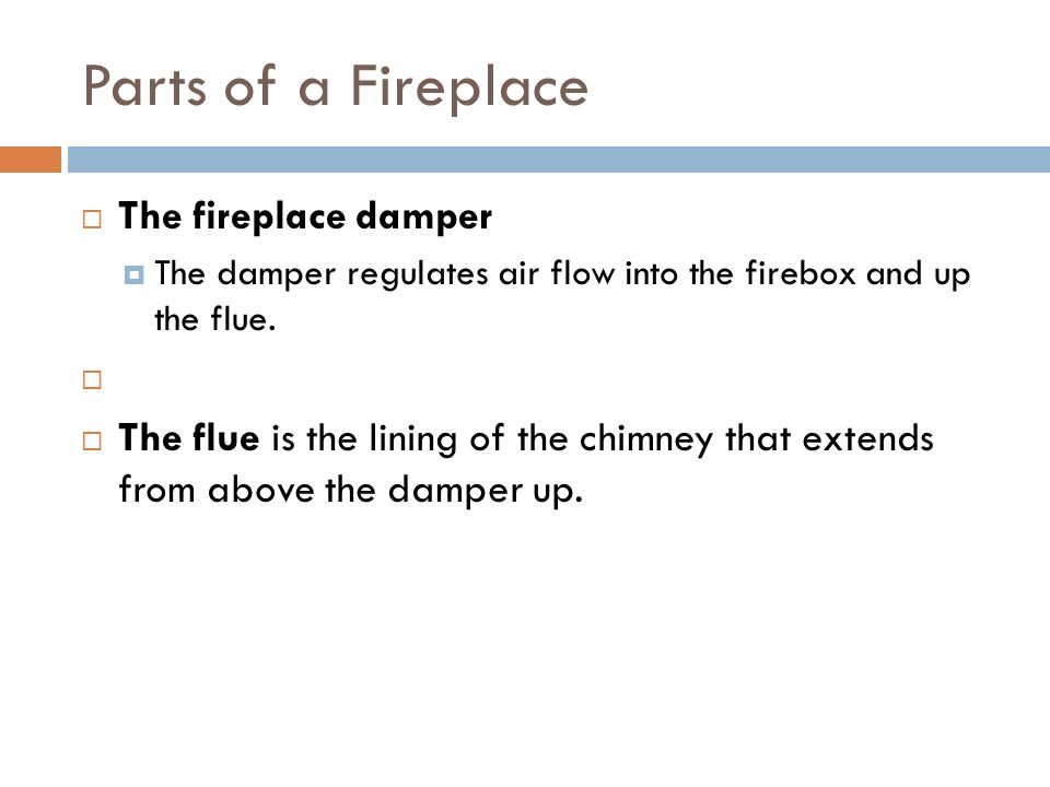 FIREPLACES J Carlson GHS Fireplaces Parts of a Fireplace The