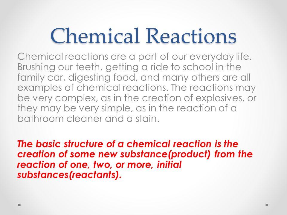 Science 1206 Unit 2 Chemistry Chemical Reactions Unit 2 Chemistry