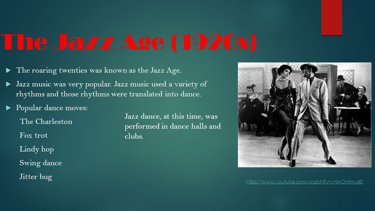 histoy of the jazz age essay The jazz age: the american 1920s the 1920s was a decade of major cultural conflicts as well as a period when many features of a modern consumer culture took root.