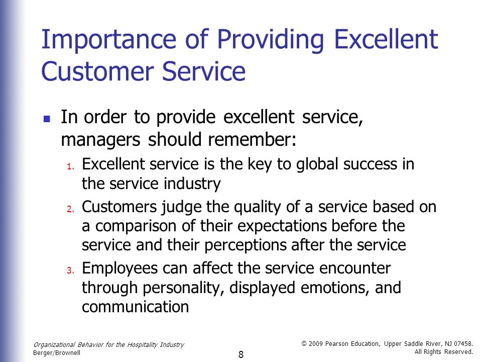 importance of customer service in the hospitality industry