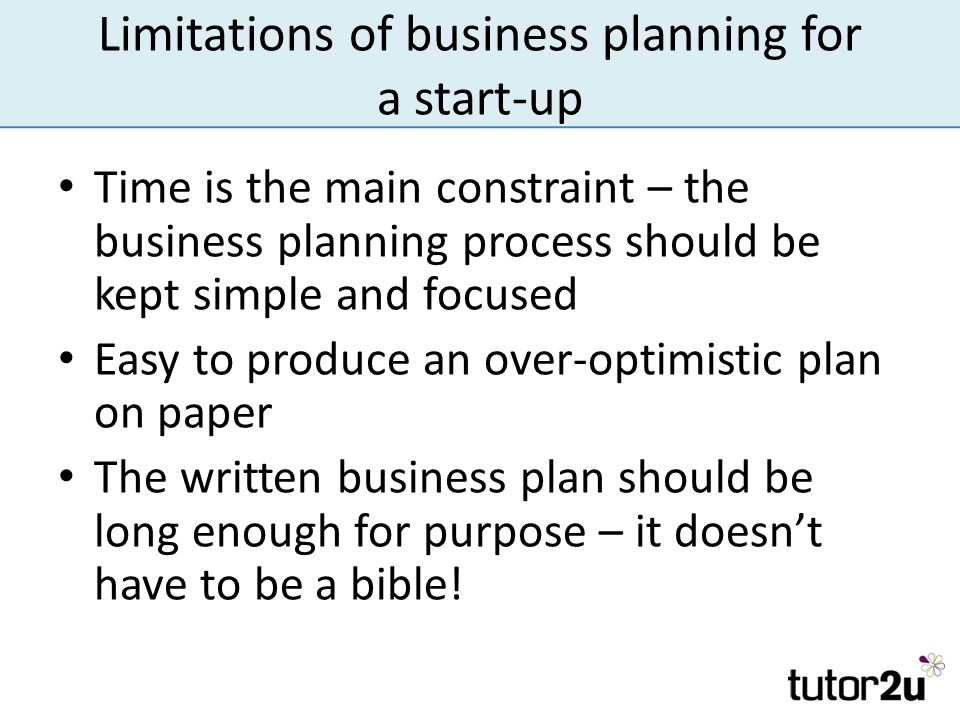 limitations of marketing planning process