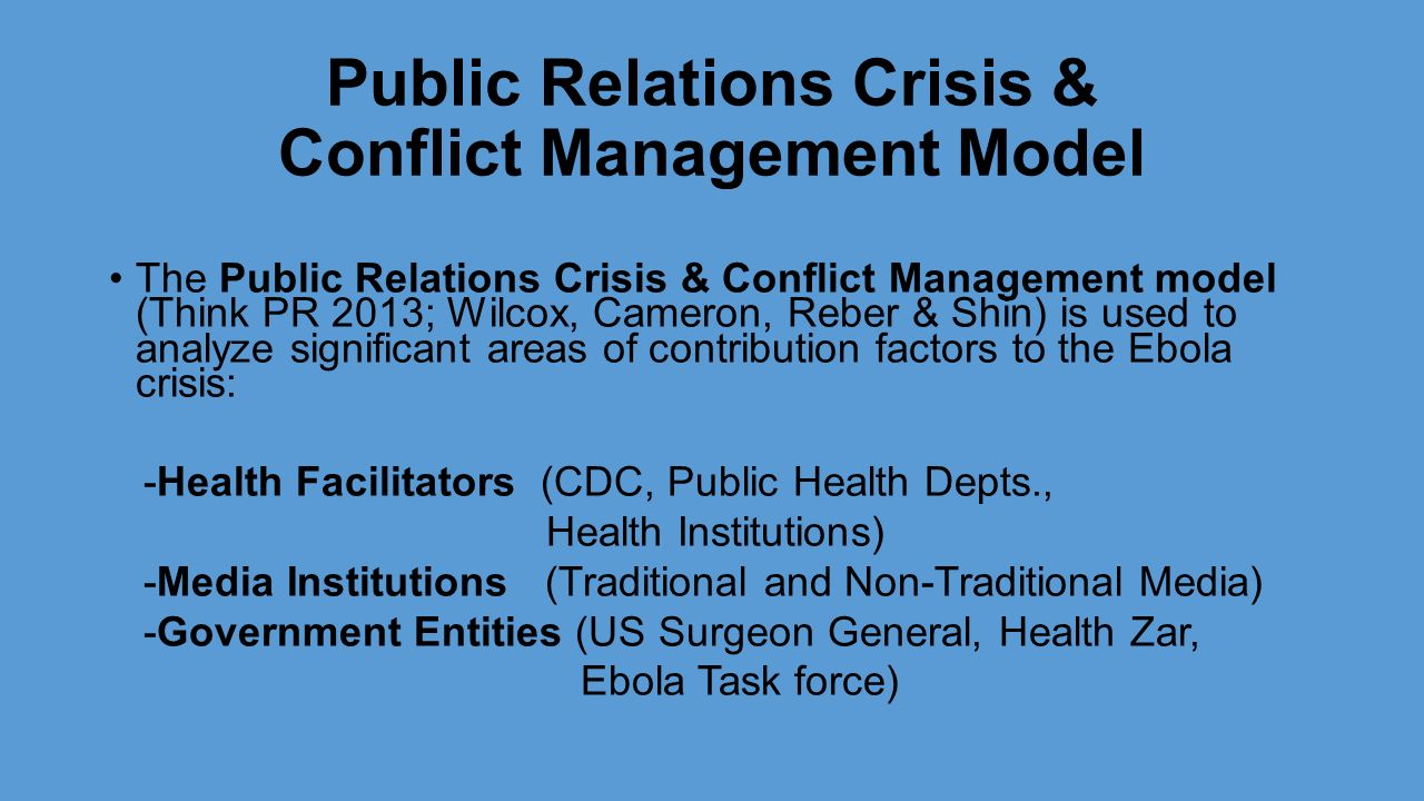 managing a crisis using public relations