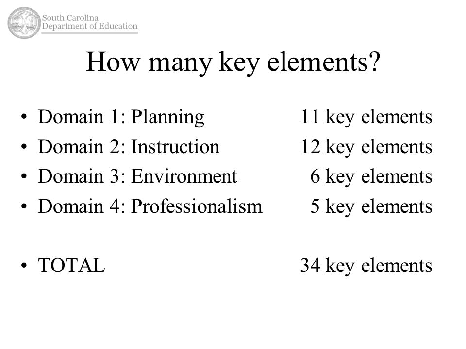 How many key elements.