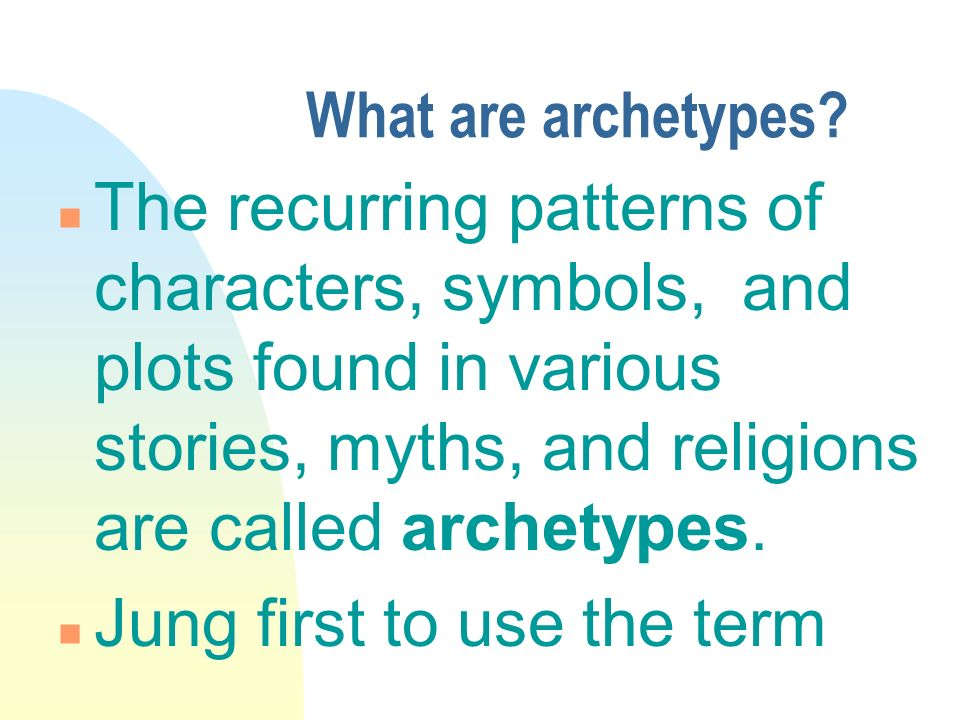 archetypal theory essay Essays on archetype these are character archetype, plot archetype and setting archetype carl jung's theory illustrates that archetypes depict inherited.