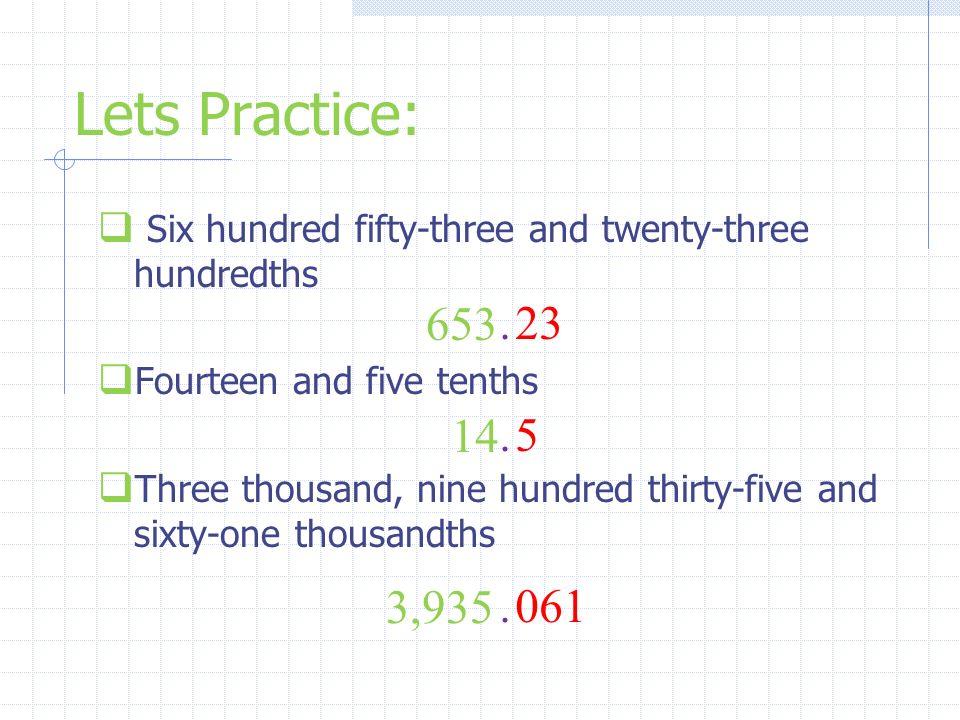 thirty and twenty hundredths in decimal form