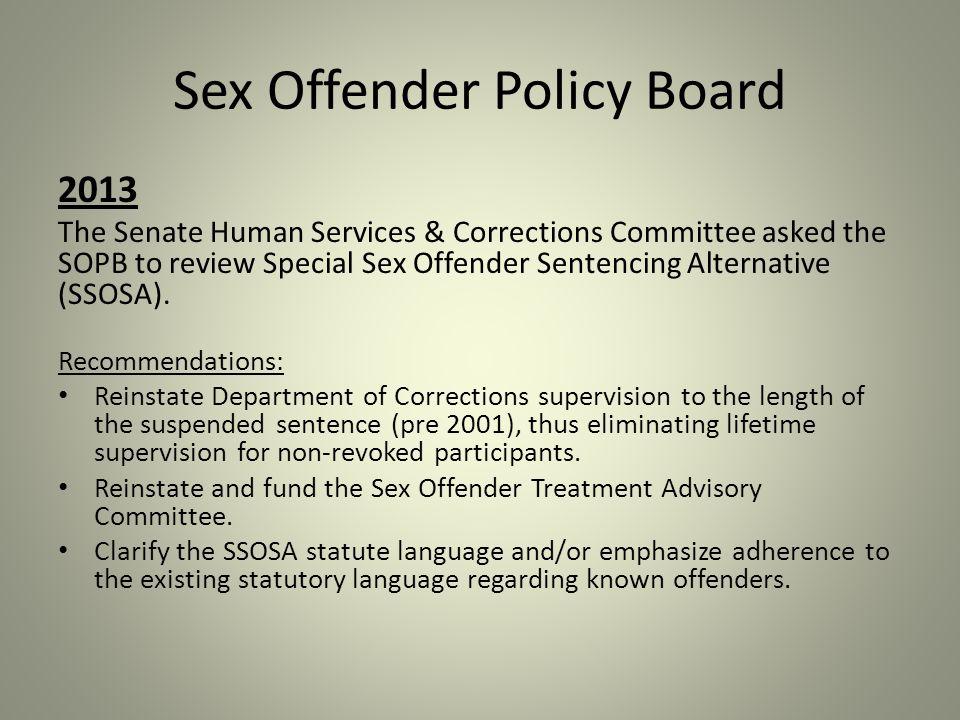 Special sex offenders sentencing alternative