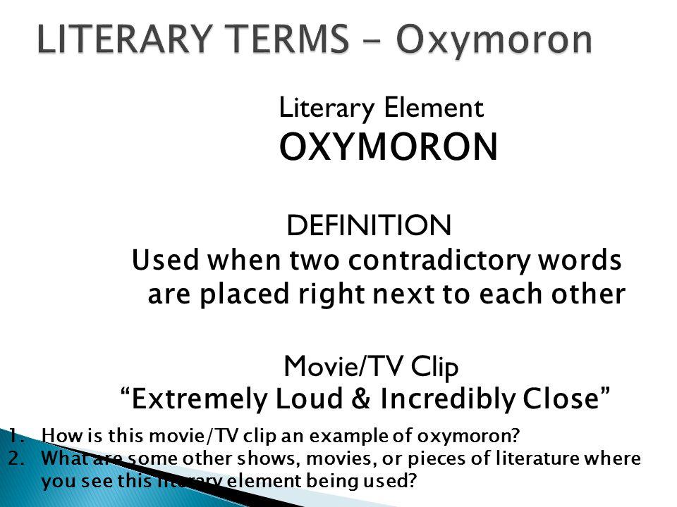 Oxymoron List Funny Examples of Oxymorons Oxymora 3783154 ...