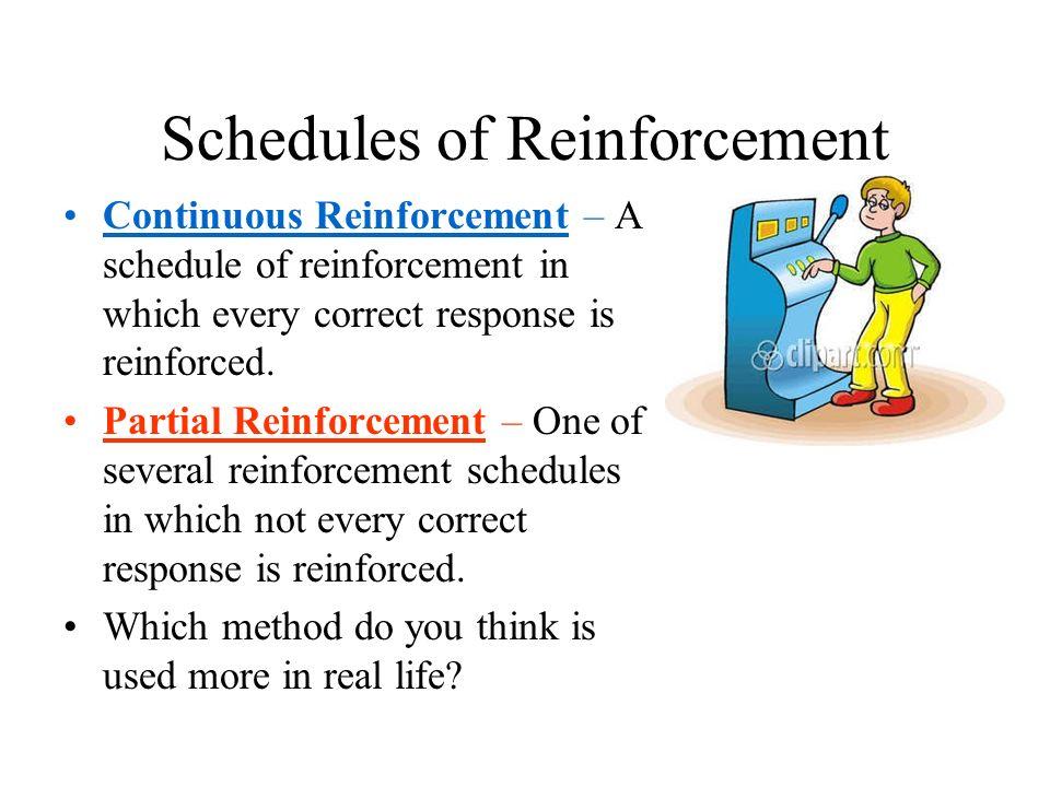 Reinforcement schedule in gambling golden cairo casino