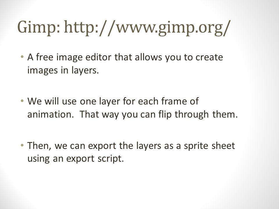 gimp sprite sheet