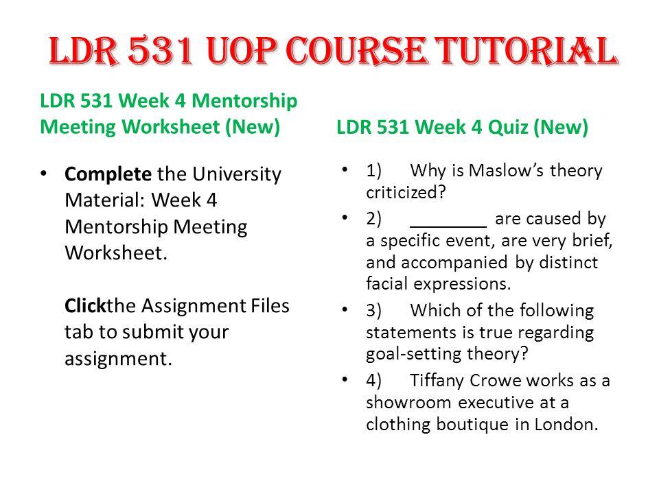 For more course tutorials visit LDR 531 Entire Course (New) LDR 531 ...