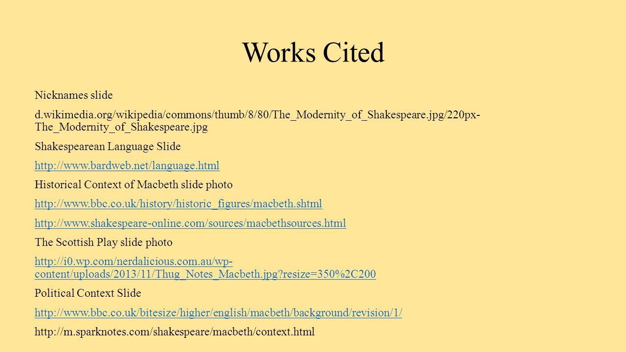 shakespeares context