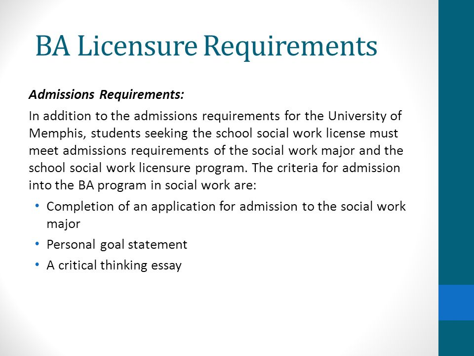 admissons essay Most universities acknowledge that the admission essay-while only one component in the application package-is the best opportunity for acquainting the admissions officer with the student the admission essay can help explain academic discrepancies, share stories that don't fit inside checked boxes, and answer peculiar questions.