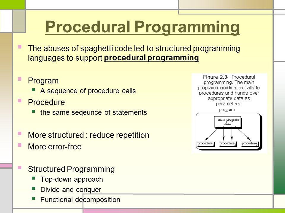 procedural programming language