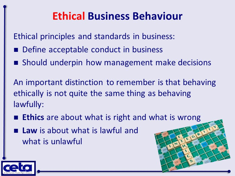 business behavior Strategic business behavior and antitrust-charles a holt and david t scheffman 1 i in troduction during the seventies business consultants and academics became.