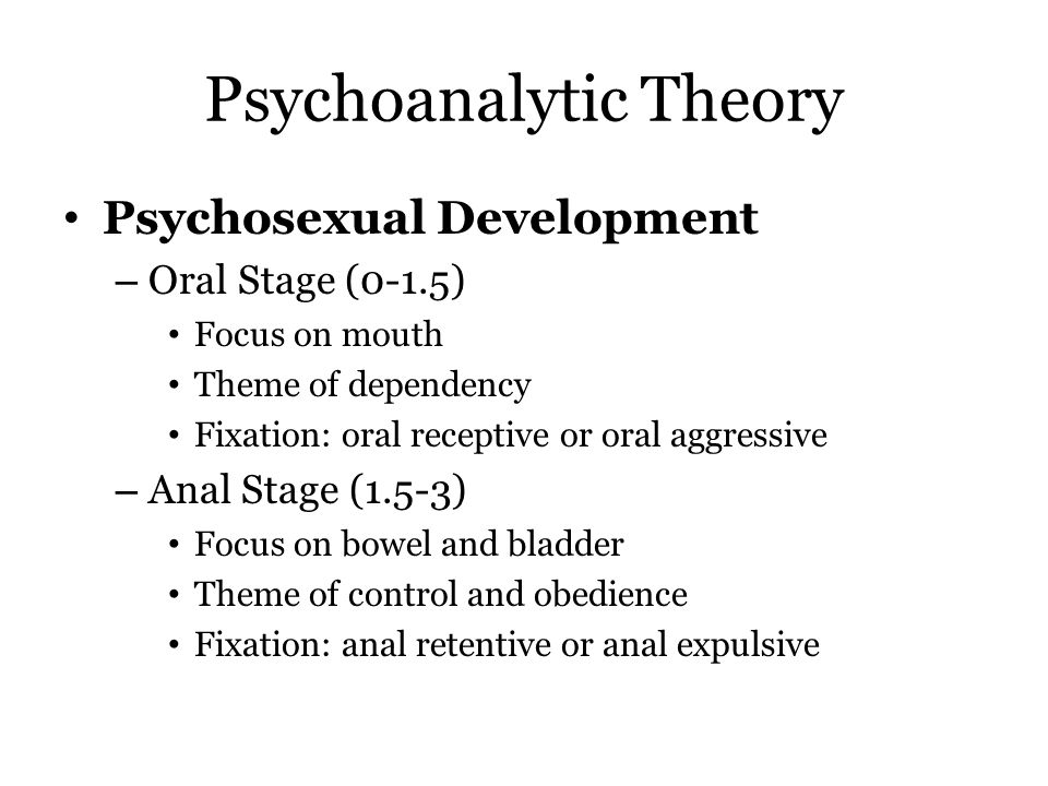 theory of psychosexual development