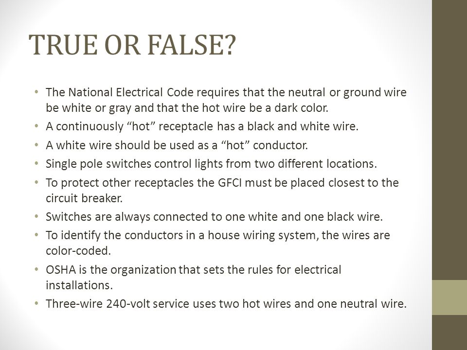 Perfect What Color Is The Hot Wire In A House Pictures - Wiring ...
