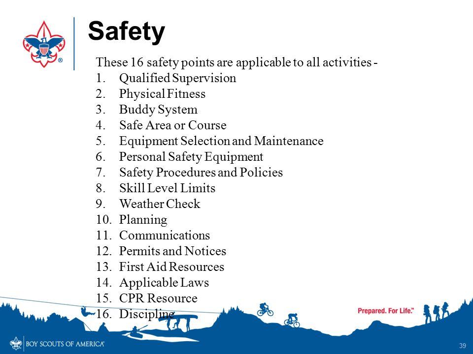 39 Safety ...