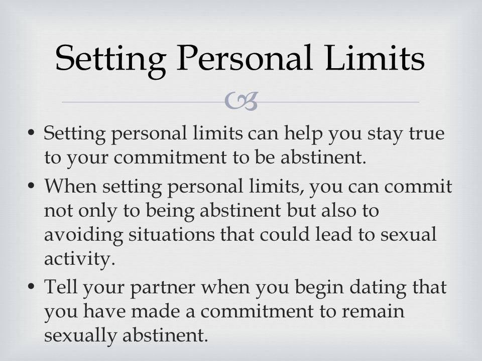 staying abstinent while dating