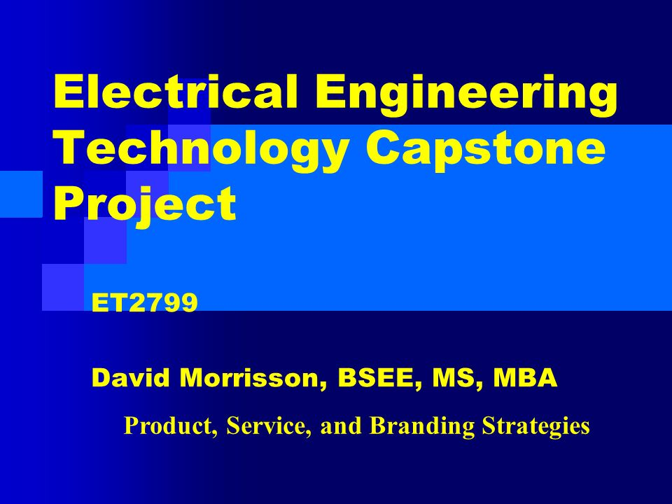 Electrical engineering capstone projects