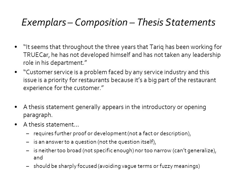 english composition thesis statement Ap literature/composition: thesis thesis - the thesis is a one-sentence statement that answers a prompt or paper ap thesis, claims, assert.