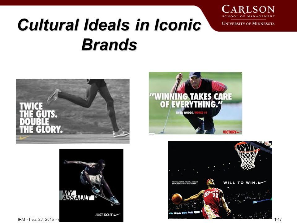 Cultural Ideals in Iconic Brands IRM - Feb. 23, 2016 - copyright © Carlos J. Torelli 20161-17